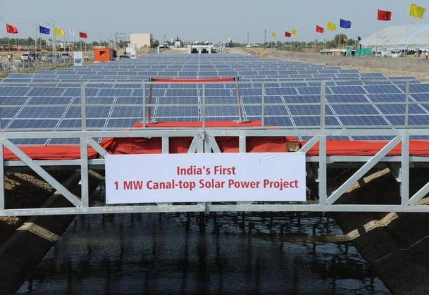 Canal Solar Power Project in Kadi